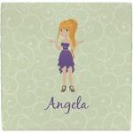 Custom Character (Woman) Ceramic Tile Hot Pad (Personalized)
