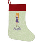 Custom Character (Woman) Holiday Stocking w/ Name or Text
