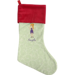 Custom Character (Woman) Christmas Stocking (Personalized)