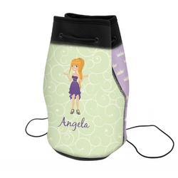 Custom Character (Woman) Neoprene Drawstring Backpack (Personalized)