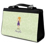 Custom Character (Woman) Classic Tote Purse w/ Leather Trim (Personalized)