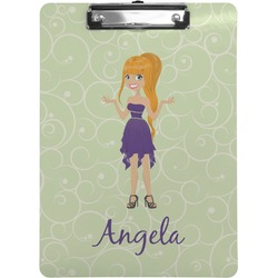 Custom Character (Woman) Clipboard (Personalized)