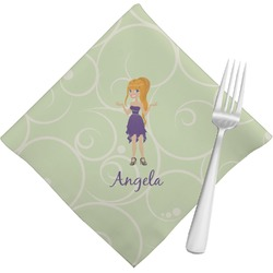 Custom Character (Woman) Napkins (Set of 4) (Personalized)
