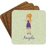 Custom Character (Woman) Coaster Set (Personalized)