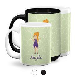 Custom Character (Woman) Coffee Mugs (Personalized)