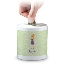 Custom Character (Woman) Coin Bank (Personalized)