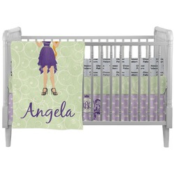 Custom Character (Woman) Crib Comforter / Quilt (Personalized)