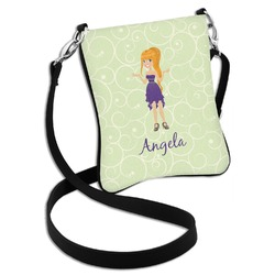 Custom Character (Woman) Cross Body Bag - 2 Sizes (Personalized)