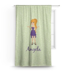 Custom Character (Woman) Curtain (Personalized)