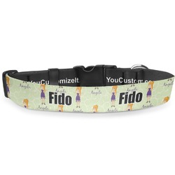 """Custom Character (Woman) Deluxe Dog Collar - Toy (6"""" to 8.5"""") (Personalized)"""