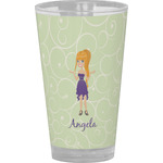 Custom Character (Woman) Drinking / Pint Glass (Personalized)