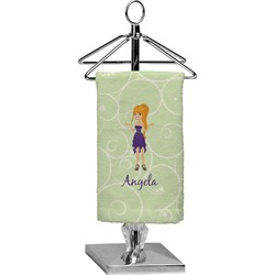 Custom Character (Woman) Finger Tip Towel - Full Print (Personalized)