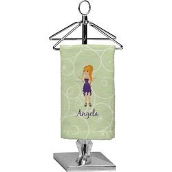 Custom Character (Woman) Finger Tip Towel - Full Print (Personalized)