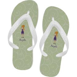 Custom Character (Woman) Flip Flops (Personalized)