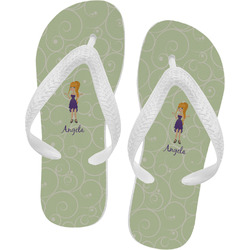 Custom Character (Woman) Flip Flops - Large (Personalized)