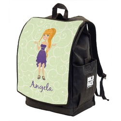 Custom Character (Woman) Backpack w/ Front Flap  (Personalized)