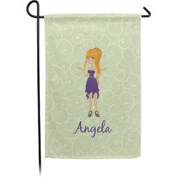 Custom Character (Woman) Single Sided Garden Flag With Pole (Personalized)