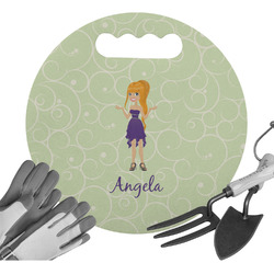 Custom Character (Woman) Gardening Knee Cushion (Personalized)