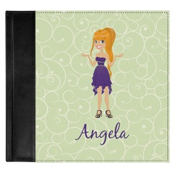 Custom Character (Woman) Genuine Leather Baby Memory Book (Personalized)