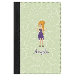 Custom Character (Woman) Genuine Leather Passport Cover (Personalized)