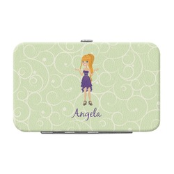 Custom Character (Woman) Genuine Leather Small Framed Wallet (Personalized)