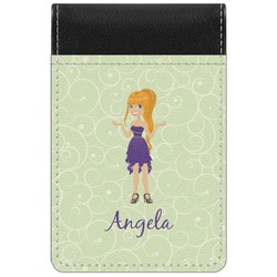 Custom Character (Woman) Genuine Leather Small Memo Pad (Personalized)