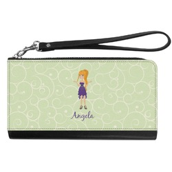 Custom Character (Woman) Genuine Leather Smartphone Wrist Wallet (Personalized)