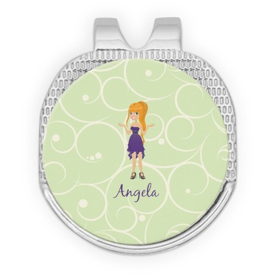 Custom Character (Woman) Golf Ball Marker - Hat Clip