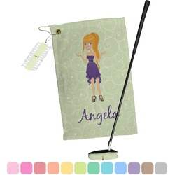 Custom Character (Woman) Golf Towel Gift Set (Personalized)