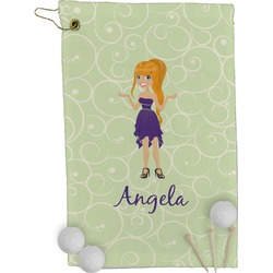Custom Character (Woman) Golf Towel - Full Print (Personalized)