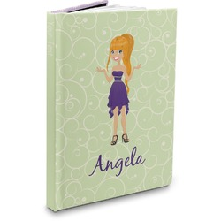 Custom Character (Woman) Hardbound Journal (Personalized)