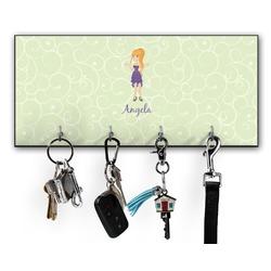 Custom Character (Woman) Key Hanger w/ 4 Hooks (Personalized)