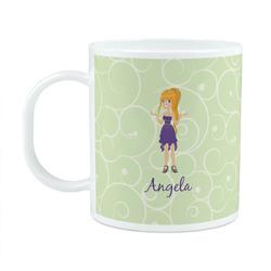 Custom Character (Woman) Plastic Kids Mug (Personalized)