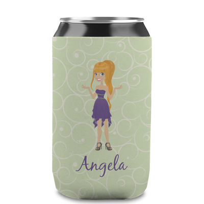 Custom Character (Woman) Can Sleeve (12 oz) (Personalized)