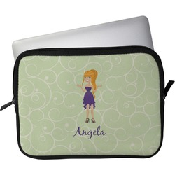 """Custom Character (Woman) Laptop Sleeve / Case - 15"""" (Personalized)"""