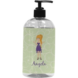 Custom Character (Woman) Plastic Soap / Lotion Dispenser (Personalized)