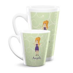 Custom Character (Woman) Latte Mug (Personalized)