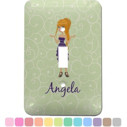Custom Character (Woman) Light Switch Cover (Single Toggle) (Personalized)