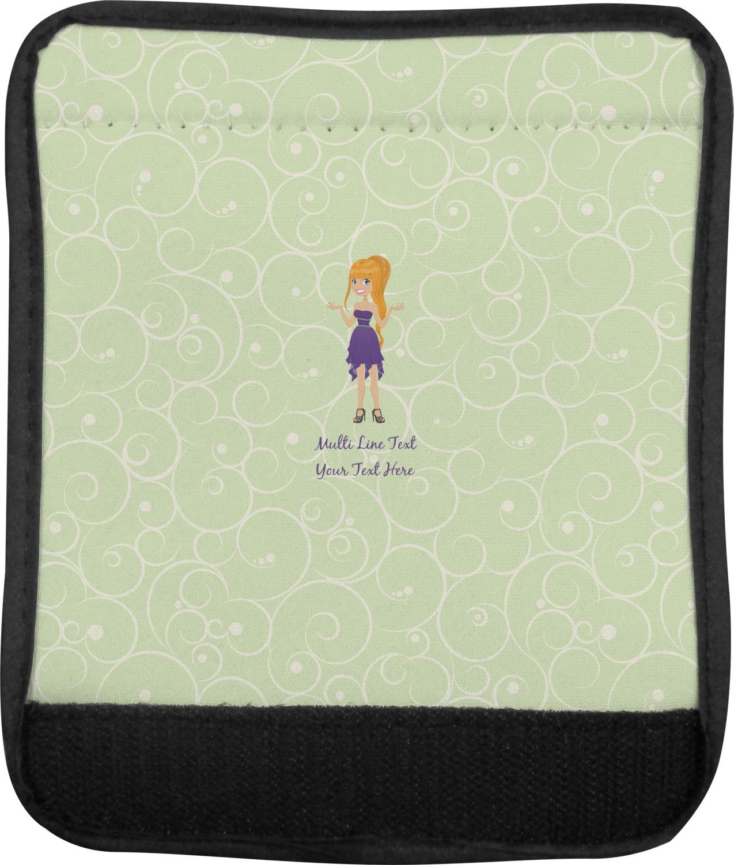 Custom Character Woman Luggage Handle Cover