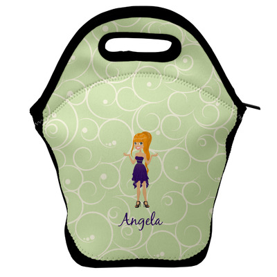 Custom Character (Woman) Lunch Bag w/ Name or Text