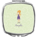 Custom Character (Woman) Compact Makeup Mirror (Personalized)