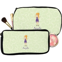 Custom Character (Woman) Makeup / Cosmetic Bag (Personalized)