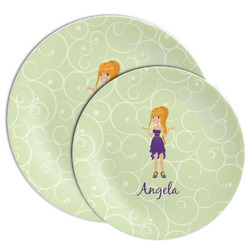 Custom Character (Woman) Melamine Plate (Personalized)