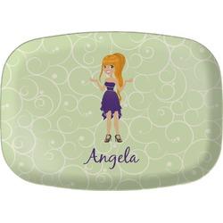 Custom Character (Woman) Melamine Platter (Personalized)