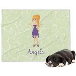 Custom Character (Woman) Minky Dog Blanket (Personalized)