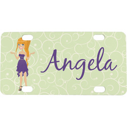 Custom Character (Woman) Mini License Plate (Personalized)