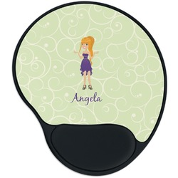 Custom Character (Woman) Mouse Pad with Wrist Support