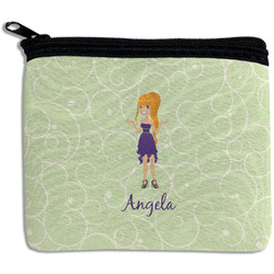 Custom Character (Woman) Rectangular Coin Purse (Personalized)