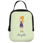 Custom Character (Woman) Neoprene Lunch Tote (Personalized)