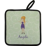 Custom Character (Woman) Pot Holder (Personalized)